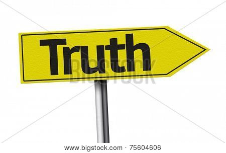 Truth creative sign on white background