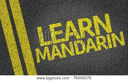 Learn Mandarin written on the road
