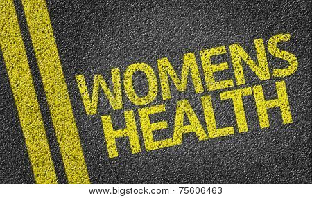 Women's Health written on the road