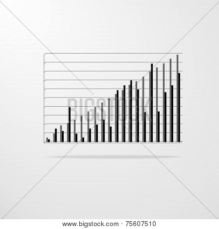 vector chart diagram graph vector illustration