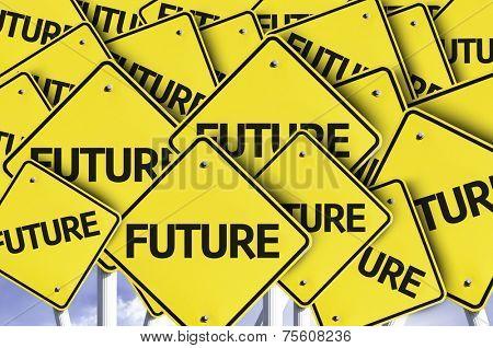Future written on multiple road sign