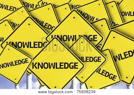 Knowledge written on multiple road sign