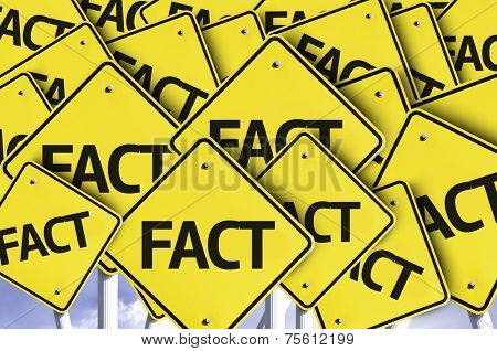 Fact written on multiple road sign