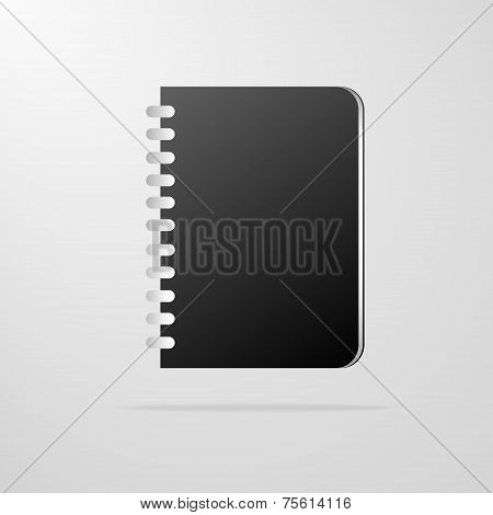 book icon diary notebook vector illustration