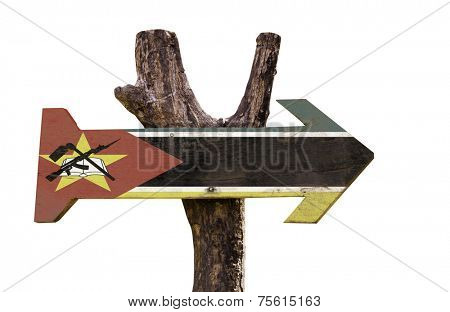 Mozambique sign isolated on white background