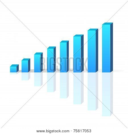 graph vector bar 3d business growth chart