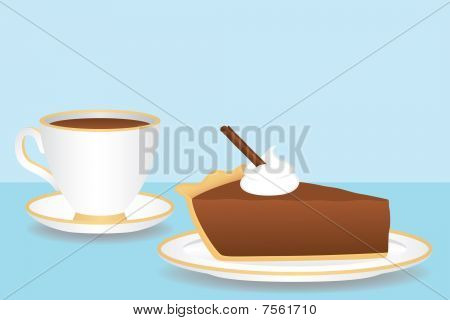 Cup of Coffee and Chocolate Pie