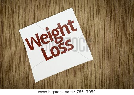 Weight Loss on Paper Note with texture background