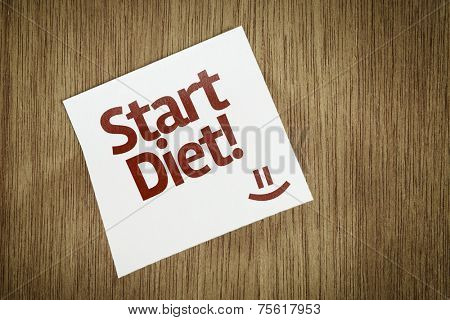 Star Diet on Paper Note with texture background