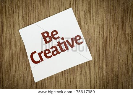 Be Creative on Paper Note on texture background