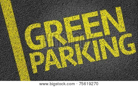 Parking space reserved for Green shoppers in a retail parking lot