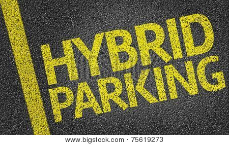 Parking space reserved for Hybrid shoppers in a retail parking lot