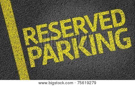 Parking space reserved for Reserved shoppers in a retail parking lot