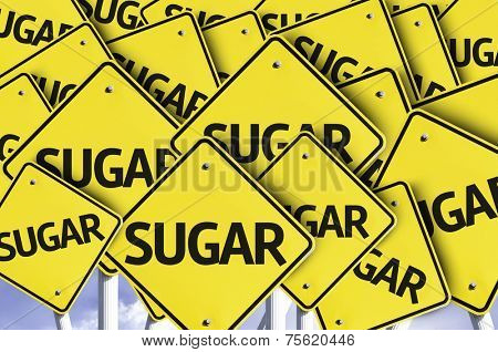 Sugar written on multiple road sign