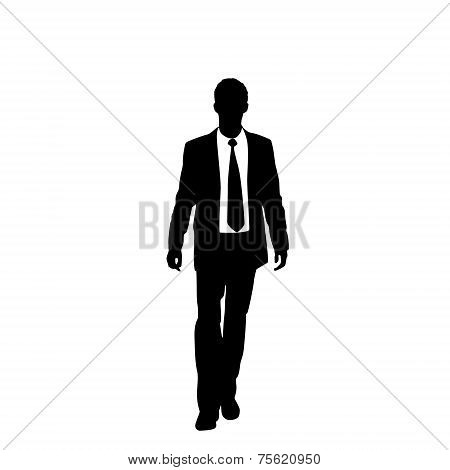 vector business man black silhouette walk step forward