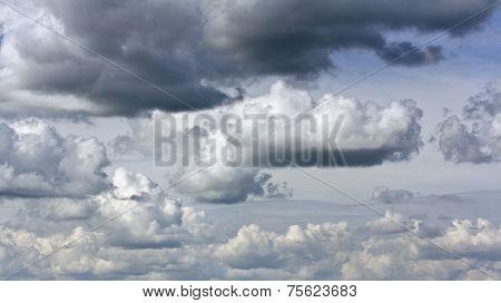 Rain Clouds In Summer Sky