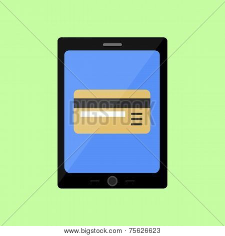Flat style touch pad with bank card
