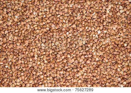 Delicious Food Background Of Brown Buckwheat
