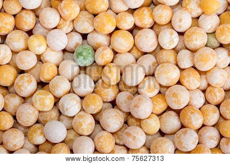 Food Background Of Yellow Grain Peas