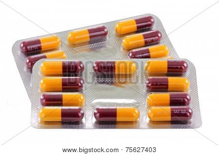 BANGKOK, THAILAND - MARCH, 2014 - Packages of Amoxicillin capsules on March 2, 2014 in Bangkok, Thailand. Amoxicillin is a penicillin antibiotic medicine that treats infections caused by bacteria.