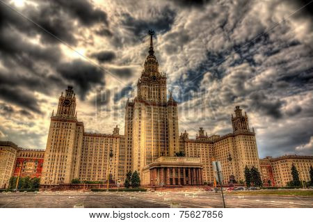 View Of Moscow University. Hdr Image