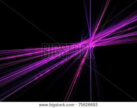 Abstract pattern in the form of sparkling intersecting laser fractal