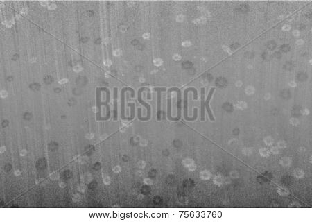 Gray Abstract Background With Flowers.
