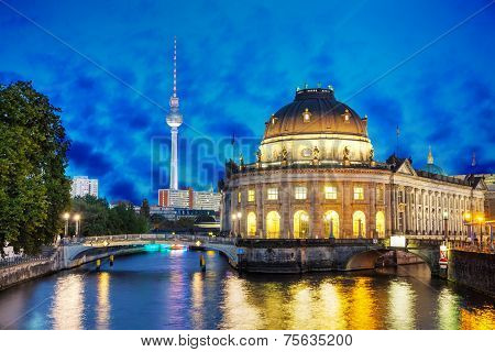Berlin Cityscape In The Night