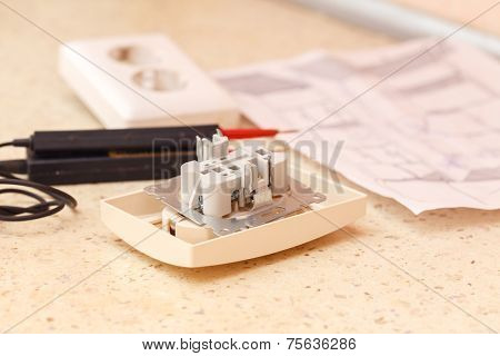 Electric board and a soldering iron