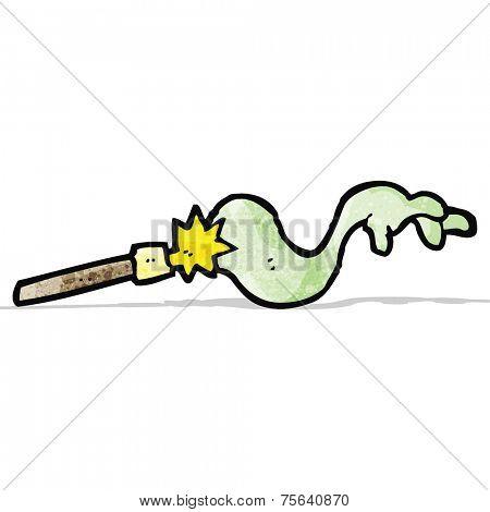 cartoon wand casting spell