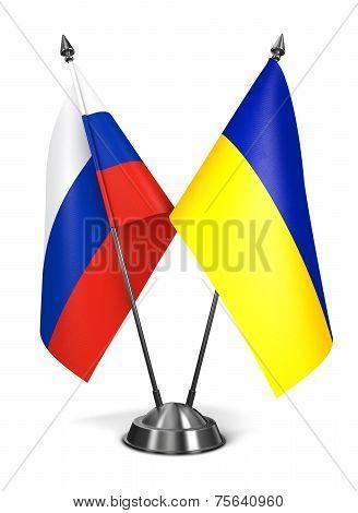 Russia and Ukraine - Miniature Flags.