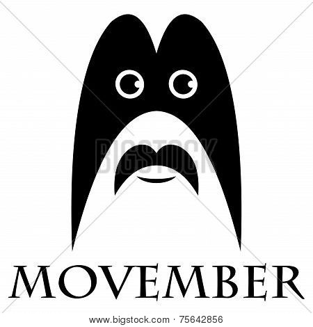 Movember - Man With A Mustache And A Mask