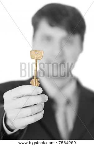 Business People Gives Us A Golden Key