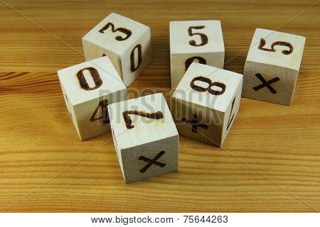 Wooden Blocks With Digits