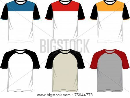 T Shirt Template Raglan