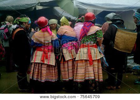 Group of Hmong woman.