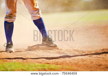 Baseball Player On The Base
