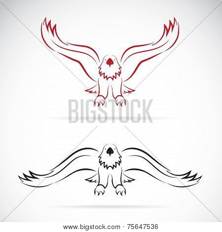 Vector Image Of An Eagle On White Background