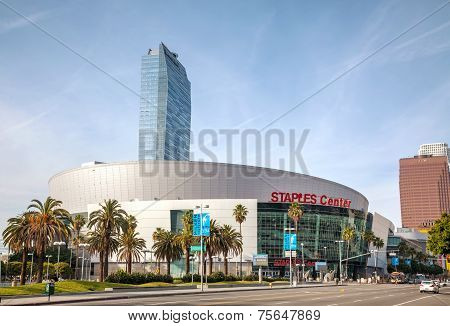 Staples Center In Downtown Los Angeles, Ca