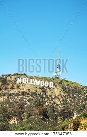 Hollywood Sign Located On Mount Lee