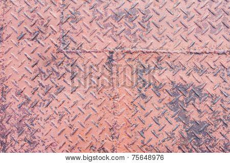 grungy metal diamond plate