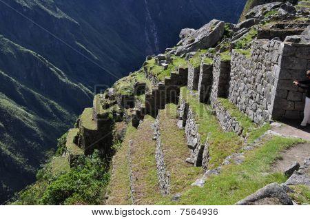 Terracing at Machu Picchu, Peru