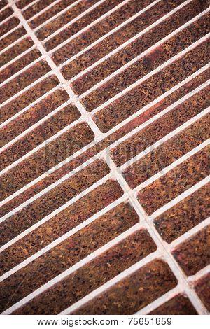 Rust steel grating of Drain cover