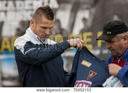 Marcin Robak Footballer Of Pogon Szczecin Poland
