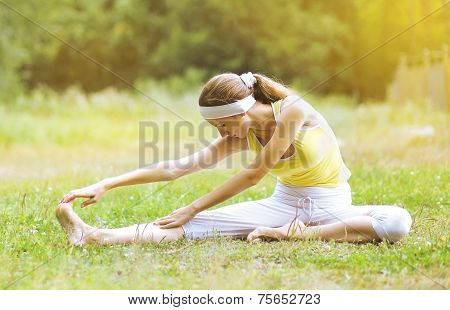Outdoors Yoga Woman