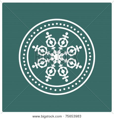 Stamp of snowflake.
