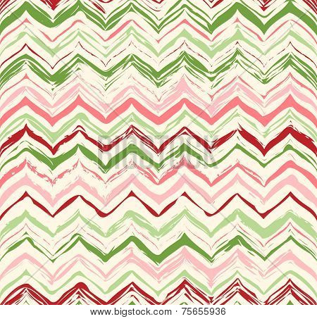 Colorful Stripes Seamless Zigzag Pattern