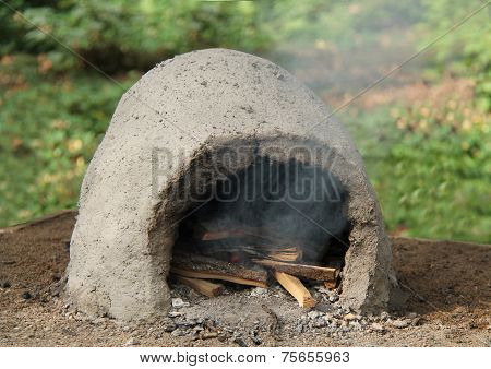 Outdoor Clay Oven.