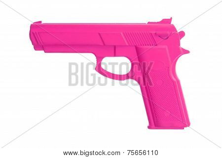 Pink Training Gun Isolated On White