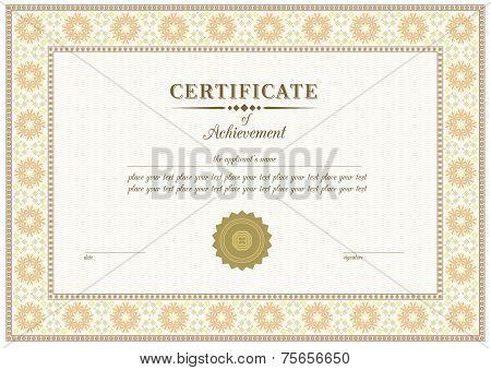 Vector red certificate